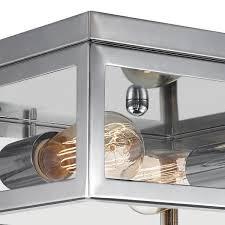 chrome flush mount ceiling light