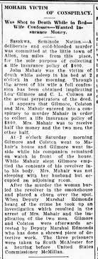Victim of conspiracy-Addie Bennett Mahair - Newspapers.com
