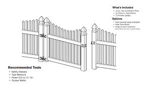 Vinyl Picket Fence Gate Picket Fence Garden Gate
