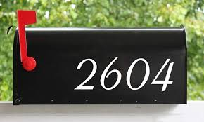 Amazon Com White House Or Mailbox Numbers 3 Tall Custom Vinyl Decal Custom Lettering Home Address Office Aspire Die Cut Sticker Home Improvement