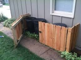 Carlson Projects Inc Diy Trash Can Storage Keep Them Out Of Sight Outdoor Trash Cans Hide Trash Cans Diy Outdoor