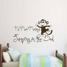 Amazon Com Wall Decals No More Monkeys Quote Decal Monkey Vinyl Sticker Kids Nursery Kitchen Dining