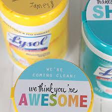 teacher appreciation gift sanitizing wipes