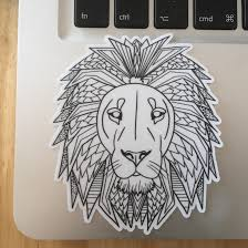 The Lion Black And White Vinyl Sticker Vinyl Decal Laptop Etsy