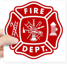 Amazon Com Cafepress Fire Department Crest Square Sticker 3 X 3 Square Bumper Sticker Car Decal 3 X3 Small Or 5 X5 Large Home Kitchen