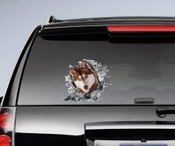 Red Husky Window Sticker Car Sticker Red Husky Car Decal Funny Decal Car Stickers Funny Decals Window Stickers