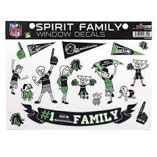 Seattle Seahawks Spirit Family Window Decal