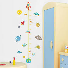 Solar System Rocket Height Measure Wall Stickers Kids Nusery Rooms Outer Space Sky Decals Growth Chart Pvc Mural Decor Wall Art Nursery Wall Decal Nursery Wall Decals From Chairdesk 3 Dhgate Com