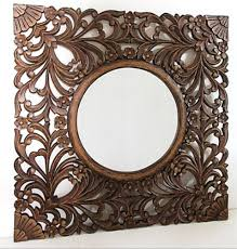 wooden handcrafted mirror frames