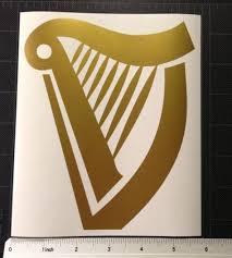 Harp Golden Vinyl Decal Sticker Guinness Large Custom Vinyl Decal Vinyl Decals Vinyl Decal Stickers
