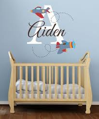 Look What I Found On Zulily Planes Personalized Initial Decal By Lollipop Walls Zulilyfinds With Images Vinyl Wall Art Decals Initials Decal Initials Wall Decal