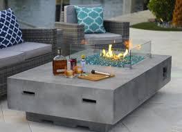 fireplace concrete coffee table modern