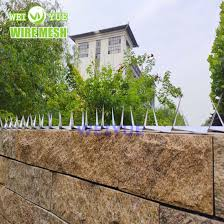 China High Security Middle Wall Spike Fencing Razor Spikes China Wall Spike Razor Anti Climb Barrier