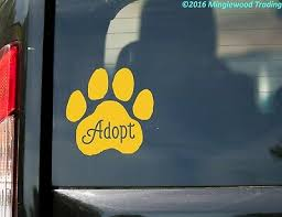 Vrs Love Logo Dog Doggy Puppy Canine Paw Print Adoption Car Decal Metal Sticker