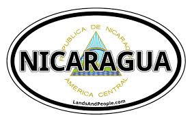 Nicaragua Vinyl Sticker Oval For Cars Any Surface Lands People