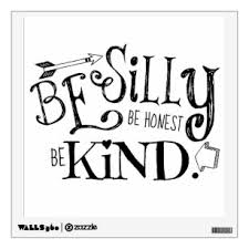 Be Kind Wall Decals Stickers Zazzle