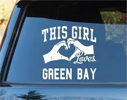 Amazon Com Dabbledown Decals This Girl Loves Green Bay Decal Sticker Car Window Truck Laptop Tablet Packers Favre Rogers Wisconsin Automotive
