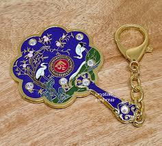 2019 8 sided mirror fan keychain for