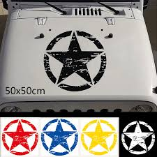 50x50cm Big Stickers Cars Army Star Decal For Jeep Sticker Large Vinyl Military Graphic Sticker For Most Vehicles Car Stickers Aliexpress