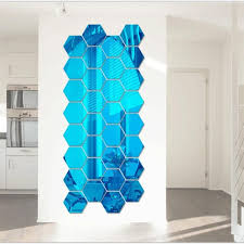 Special Price Wall Stickers 12pcs Set 3d Mirror Removable Wall Sticker Hexagon Vinyl Decal Diy Art