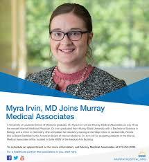 Welcome to the team, Dr. Myra Irvin!... - Murray Medical Associates |  Facebook