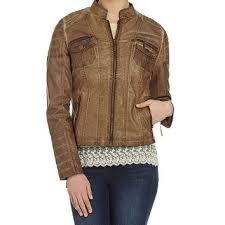 indigo saints faux leather jacket