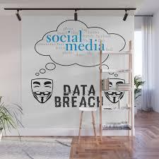 Social Media Data Breach Wall Mural By Shifttee Society6