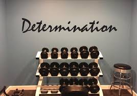 Fitness Quote Determination Wall Decal Etsy