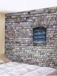 wall hanging art brick wall window