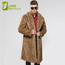 bhunati mens faux fur coats jacket fur