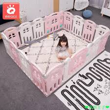 Foldable Fence Children Playpen Baby Toddler Fence Safety Indoor Shopee Philippines