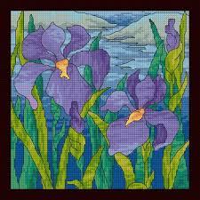 maria diaz designs stained glass iris