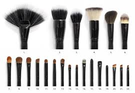 types of makeup brushes with pictures