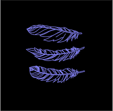 Feathers Set Of 3 Custom Vinyl Decals Car Truck Window Boho Stickers Customvinyldecals4u