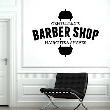 Diy Vinyl Wall Decal Gentlemen S Barber Shop Haircuts Shaves Beauty Salon Decor Mural Stickers Wallpaper Removable Poster G182 Wall Stickers Aliexpress