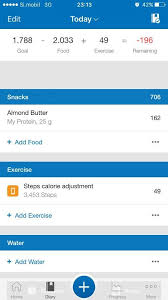 steps calorie adjustment disappears