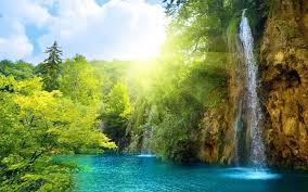 light landscapes nature sun falls