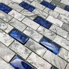 botticino 1x2 marble split faced mosaic