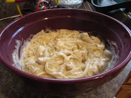 en alfredo with mushrooms and
