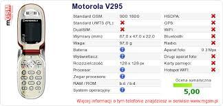 Twojej stronie Motorola V295 :: mGSM ...