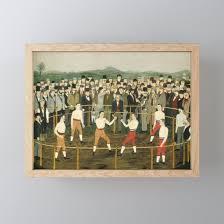folk art framed mini art print