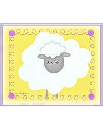 The Best Sales For Cute Sheep Art Print Whimsical Lamb Nursery Decor Baby Boy Girl Nursery Art Toddlers Room Decor Sheep Art For Children Yellow Kids Room Wall Art Children S Farm Animal