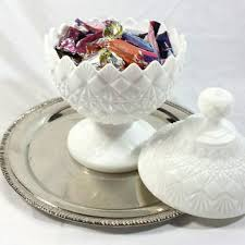vintage westmoreland milk glass candy