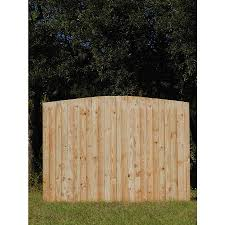 6 Ft H X 8 Ft W Pressure Treated Pine Flat Top Fence Panel In The Wood Fence Panels Department At Lowes Com