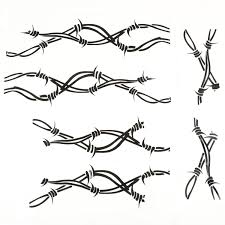 Decal Kit Side Pair Barbed Wire 07 18 Jeep Wrangler Jk 12300