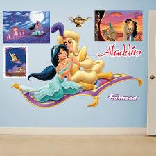 Aladdin And Jasmine Magic Carpet Wall Decal