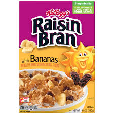 kellogg s raisin bran cereal banana