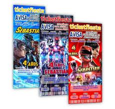 Invitaciones De Power Rangers Impresas Personalizadas