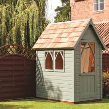 Garden Paint Ronseal Willow A Really Neat Colour For The Small Potting Shed Painted Garden Sheds Shed Landscaping Painted Shed
