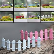 Miniature Wood Fence Diy Fairy Garden Dollhouse Plant Pot Ornament Fairy Garden Diy Garden Ornaments Diy Landscape Decor Diy